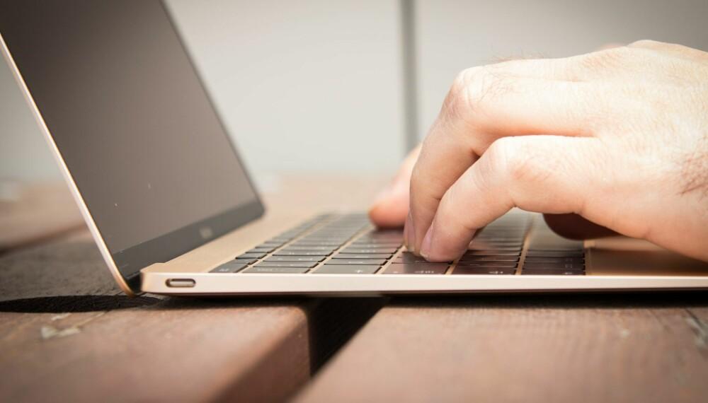 UKOMFORTABELT: Tastene har svært kort vandring, noe som går hardt utover skrivekomforten.