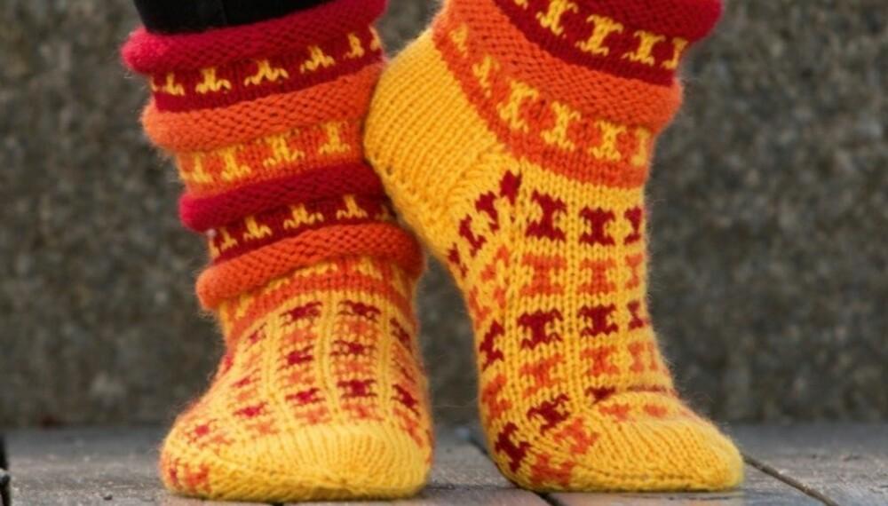 GLADE FØTTER: Disse sokkene vil helt sikkert få fram smilet hos eieren.