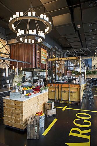 GOD MIDDAG: Den italienske restauranten Cargo er kjent for sin unike innredning og deilige mat.
