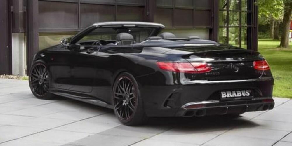 BLACK ON BLACK: Brabus Mercedes-AMG S63 Cabriolet ble vist for første gang under Le Mans 2016. De skuelystne fikk se enhelsvart bil med styling i karbonfiber og smidde, 21-toms hjul.
