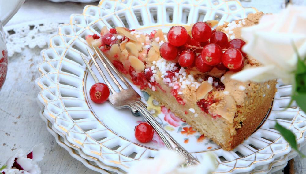 RIPSKAKE: I denne kaken forenes rips og mandel for en helt ny og herlig smaksopplevelse.