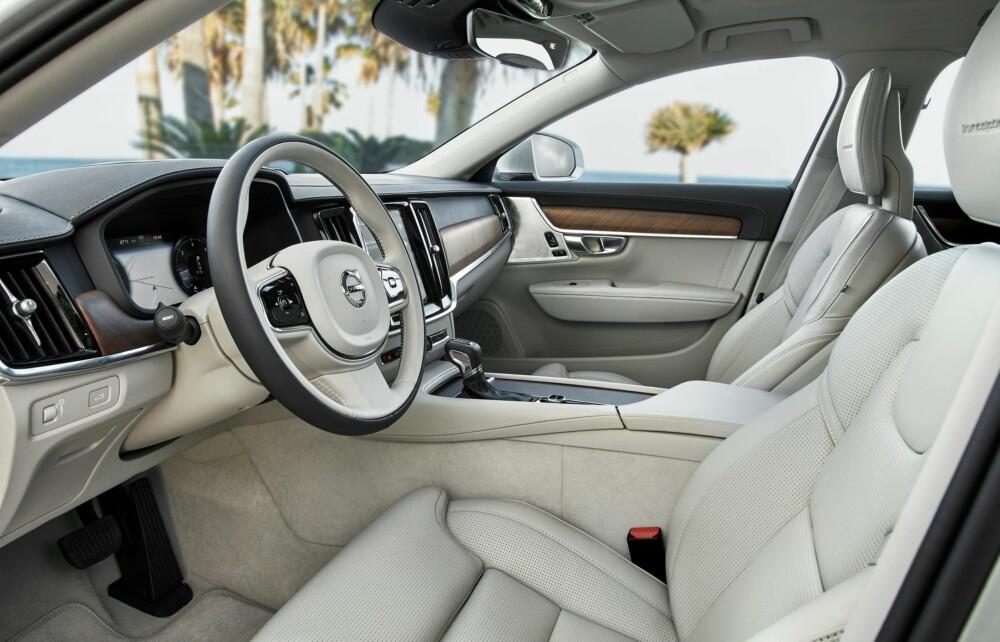 KOMFORTABEL: V90 framstår med upåklagelig sittekomfort, med massasjeprogram og setelufting.