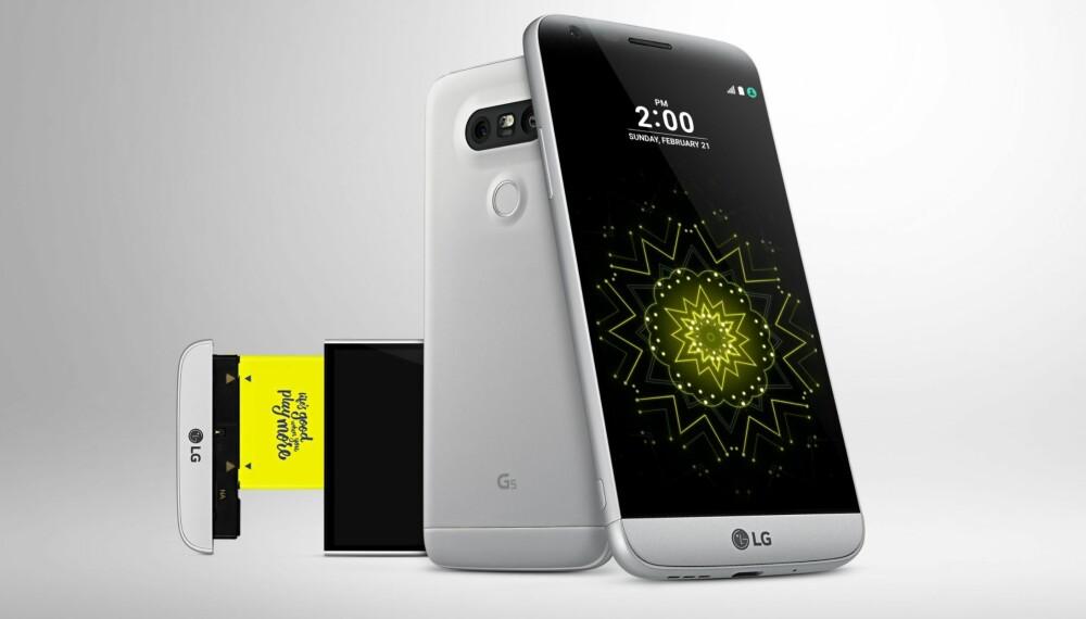 MODULÆR: LG G5 er mobilen som skal kunne endre seg med dine behov. Vi forsøkte å teste den med kameramodulen Cam Plus, med lite hell.
