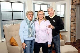 NÆRT FORHOLD: Sigrun, datteren Anne og Bjørn Wirkola har et tett og nært forhold.