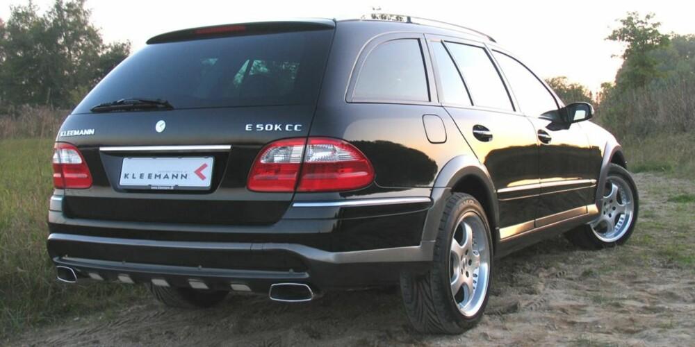 """ALLROAD: """"Allroad""""-Mercedesen er basert på en  E-klasse E500 T 4Matic. FOTO: Kleemann"""