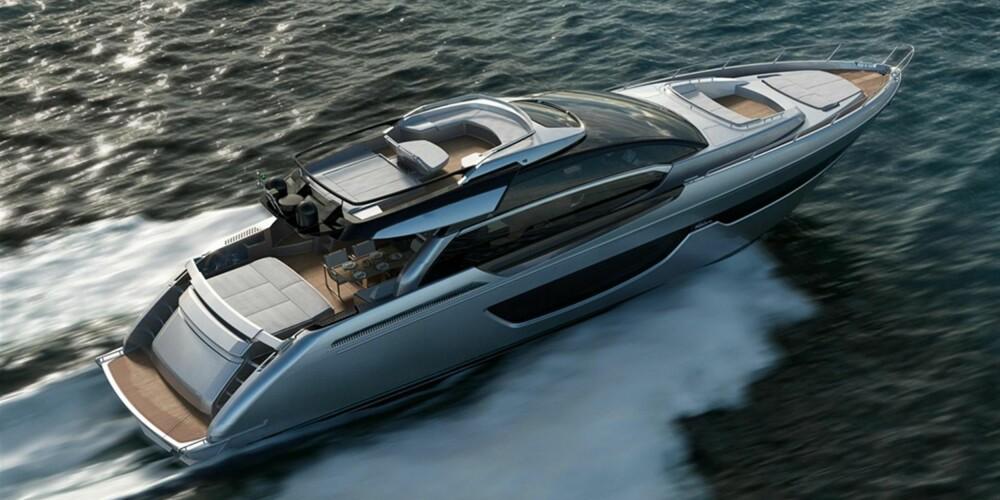 RIVA: 76 fot og god for 37 knop med de største motorene. FOTO: Produsent