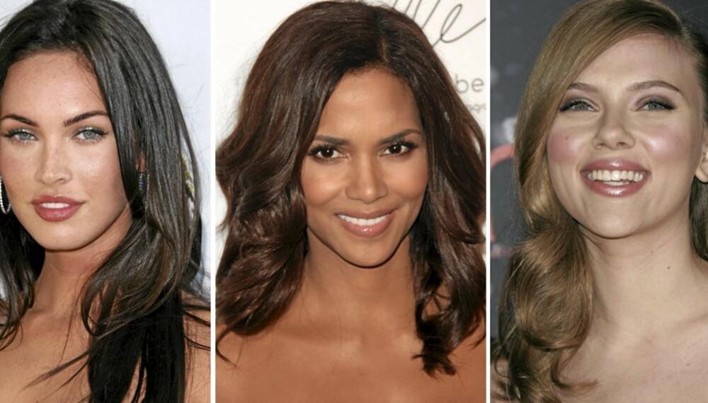 VAKRE: Megan Fox, Halle Berry og Scarlett Johansson har alle blitt kåret til verdens mest sexy. Hvem er din favoritt?