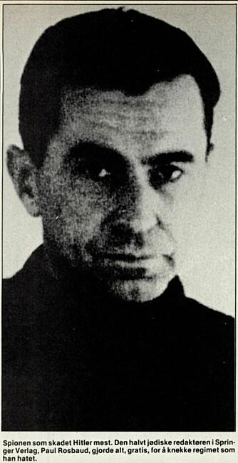 Den legendariske spionen Paul Rosbaud var Berghs kontakt i Berlin.