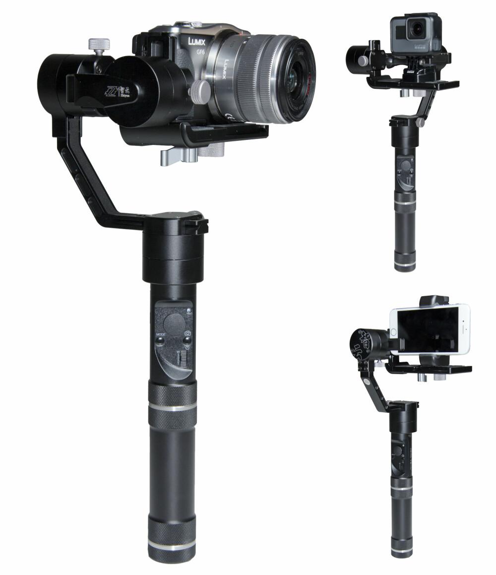 ALLSIDIG: Crane M er perfekt for speilløse systemkamera, men fungerer også supert til smartmobiler og actionkamera.