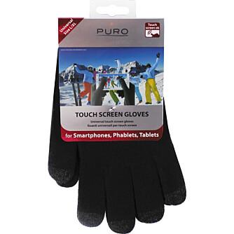 HANSKER: Touchhansker er uvurderlig når du skal kontrollere mobil og nettbrett i vinterkulda. Denne typen får du for rundt 200 kroner hos Elkjøp.