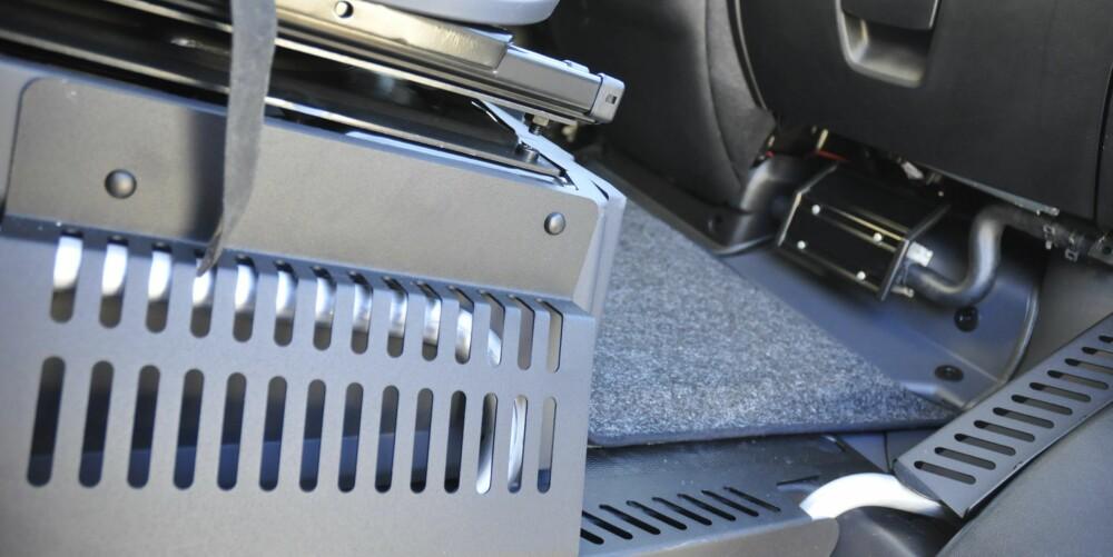 VARME: Glem det med å fryse på beina i førerhuset. Aldes vannbårne varmesystem gjør susen.