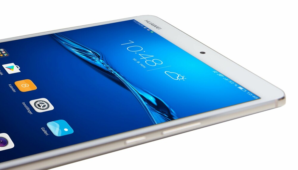 LEKKERT: Huawei MediaPad M3 er et nettbrett som minner mye om iPad mini.