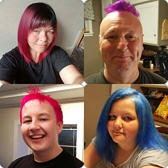 HÅRFINT: Etter at vi møtte denne fargerike familien bar det åpenbart av sted til frisøren.