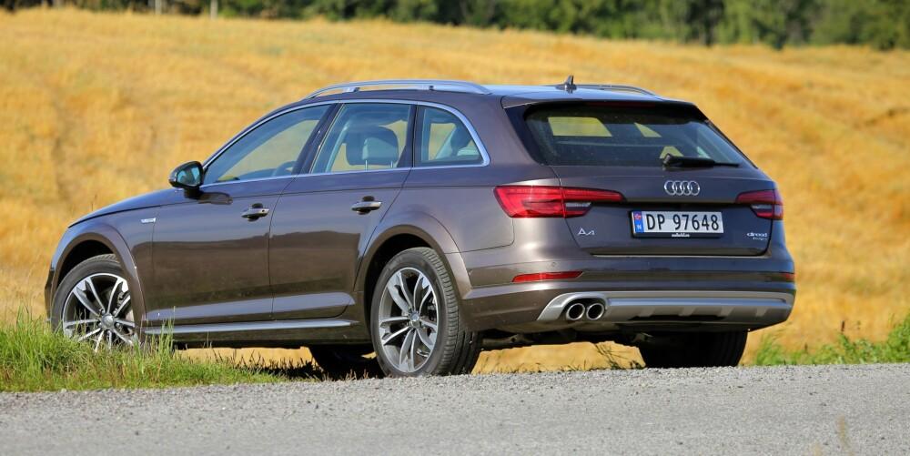 SUV NOK: Firehjulsdrift og den ekstra bakkeklaringen på 3,4 cm gjør at Audi A4 Allroad er SUV nok for de aller fleste.
