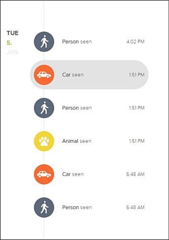 SMART: Netatmo Presence kan lage en logg over hendelser utenfor huset ditt helt automatisk siden den kan detektere både biler, mennesker og dyr.