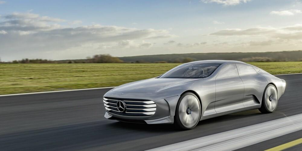 KONSEPTBIL: Bildene er av IAA-konseptet Mercedes viste frem i fjor. Produksjonsmodellene vil nok hente inspirasjon fra denne, men vil garantert være mye mer konservative. Foto: Mercedes