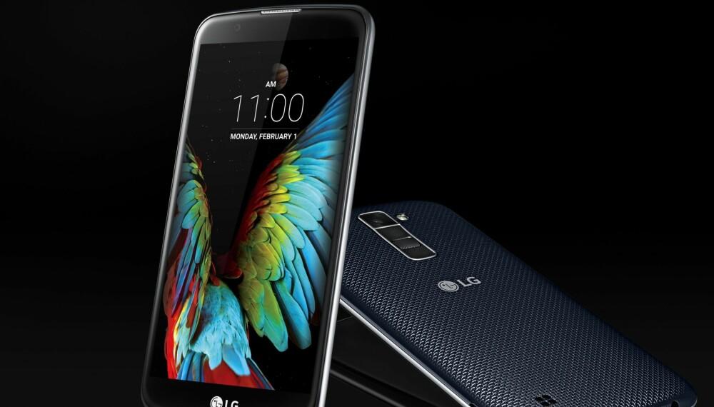 PEN: LG K10 blir en rimelig modell med en lav pris. Den får en skjerm på 5,3 tommer med 720 x 1280 pikslers oppløsning og et kamera med 13 megapikslers oppløsning.