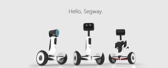 SAMMENFOLDET: Når Segway APR brukes som ståhjuling vil skjermen folde seg sammen og snu seg på langs slik at den heller fungerer som en støtte mellom knærne.