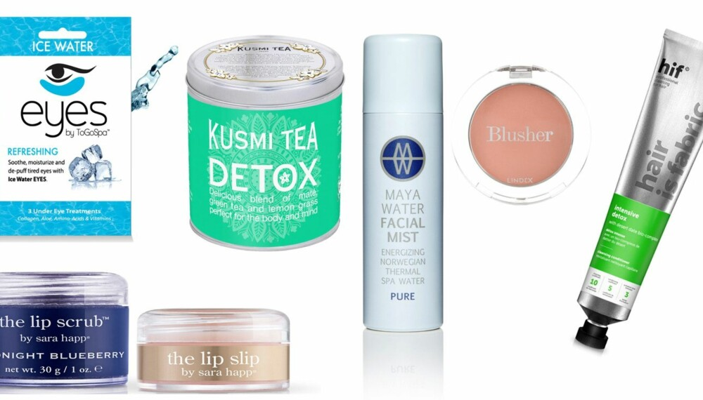 SKJØNNE NYHETER: Her er 6 produkter for opplagte øyne, sunn hud, vakre kinn, sunne lepper og en glad kropp. Se priser og info under.