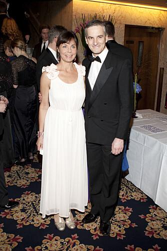 KONE OG SJELEVENN: Jonas vil ikke røpe om kona, Marit Slagsvold, stemmer Ap. Men han føler at de tenker likt. Her sammen på Nobelbanketten på Grand Hotel i 2011.