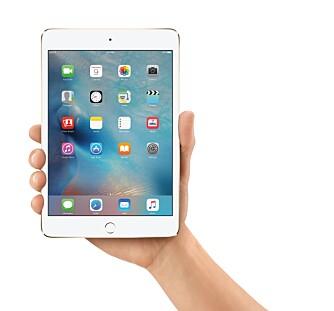 KRYMPET: Apple iPad Mini 4 skal være iPad Air 2 krympet ned til Mini-størrelse.