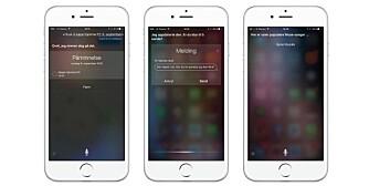 NYE MULIGHETER: Dette er bare noen eksempler på hva du kan bruke Siri til.
