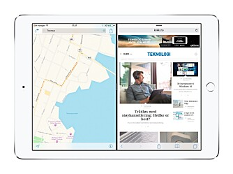 SPLITT: Å kunne dele skjermen i to kan gjøre iPad-bruken med produktiv.
