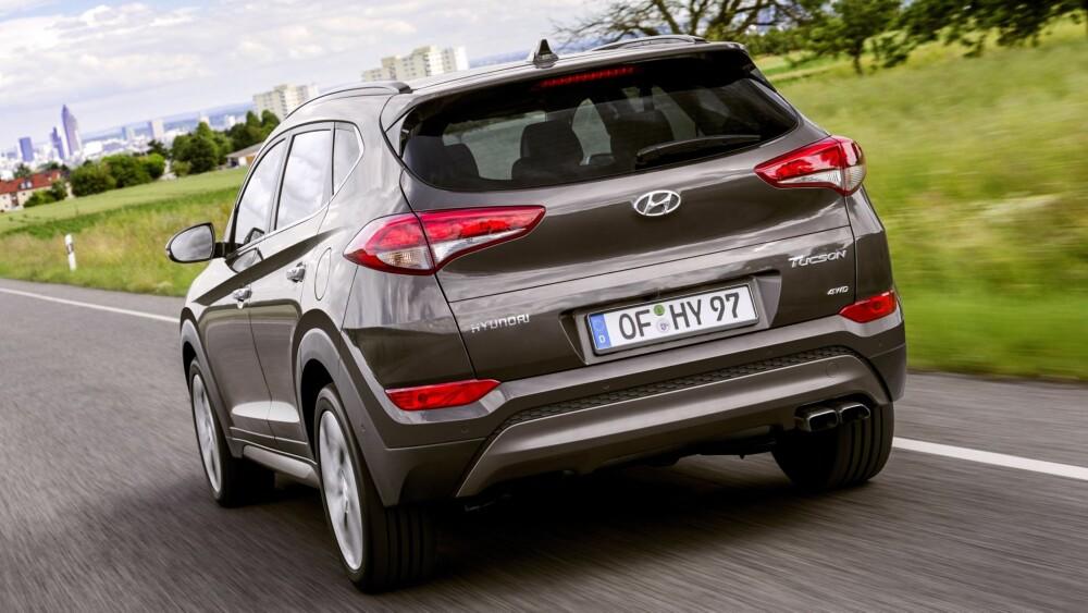 SUV: De mest populære versjonene i Norge forventes å bli 1,6 GDi bensin 2WD med Plusspakke til kroner 319 050 kroner og 2,0 CRDi diesel 4WD med Pluss- og Teknikkpakke til kroner 426 000 kroner. FOTO: Hyundai