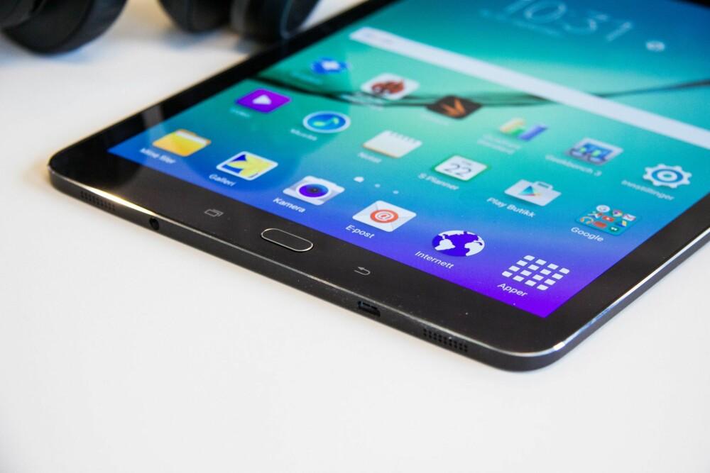 """ANDROID: Samsung Galaxy Tab S2 bruker seneste versjon av Android, med noe Samsung """"pynt"""" på toppen. Det synes vi fungerer veldig bra."""