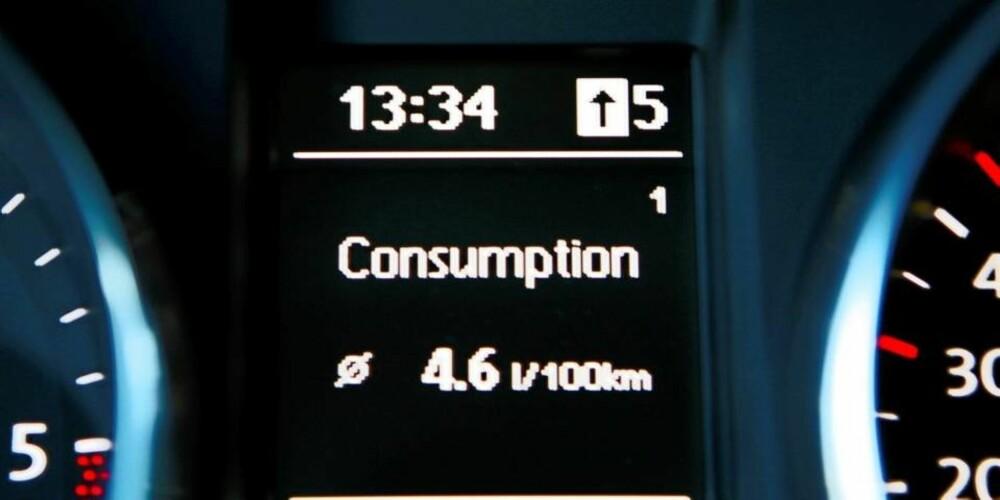 IKKE FORBRUKSRELATERT: Mengden NOx som dannes i motoren er ikke direkte proposjonal med mengden drivstoff.
