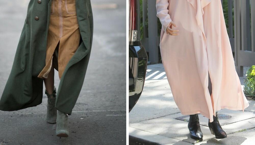 LANGE KÅPER: Lange kåper kan være veldig fint, men ifølge stylist Karen Elieson kan de litt lange og massive kåpene bli litt mye og se veldig tunge og klumpete ut om du er lav.