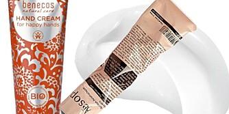 BILLIG SKJØNNHET: Hand Cream for Happy Hands fra Benecos, kr 29. Bestselger fra Aesop, kr 210. Glam Shine i fargen 103 Forever Nude fra L'Oréal Paris, kr 120. Bestselger fra Yves Saint Laurent, kr 252.