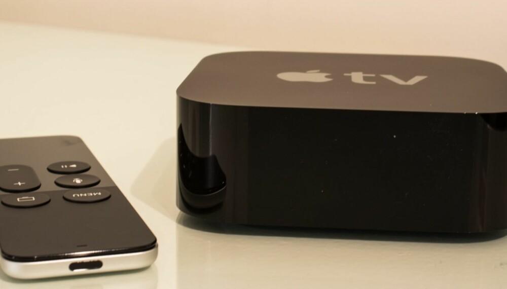 NY APPLE TV: 2015-versjonen av Apple TV er litt høyere enn de to foregående modellene - men designet er for øvrig beholdt likt som første gang det så dagens lys - i 2010.
