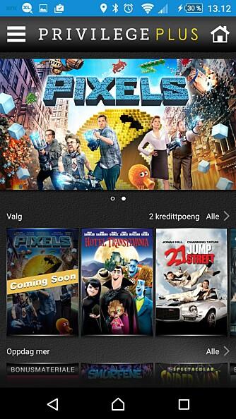 FORDELER: Privilege Plus fra Sony gir deg som har en Xperia Z-modell visse fordeler. Her kan du for eksempel finne gratis filmer som du kan laste ned og se på din mobil.