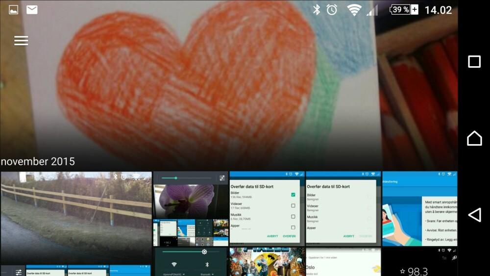 BACKUP: Via Sony PlayMemories får du ubegrenset lagring av bildene dine. Det finnes også andre måter å ta backup av mobilen  på.