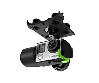 GIMBAL: En gimbal stabiliserer droneopptaket ved å motvirke bevegelser i alle akser. Gimbal-en følger ikke med Solo, men må kjøpes ved siden av for 4800 kroner.