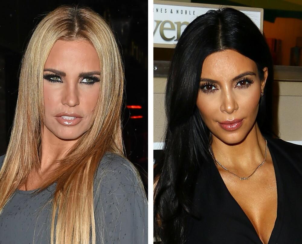 IKKE OVERSMINK DEG: Til hverdags i vinterhalvåret burde du roe litt ned på sminken, og kanskje ikke hente inspirasjon fra Katie Price og Kim Kardashian..
