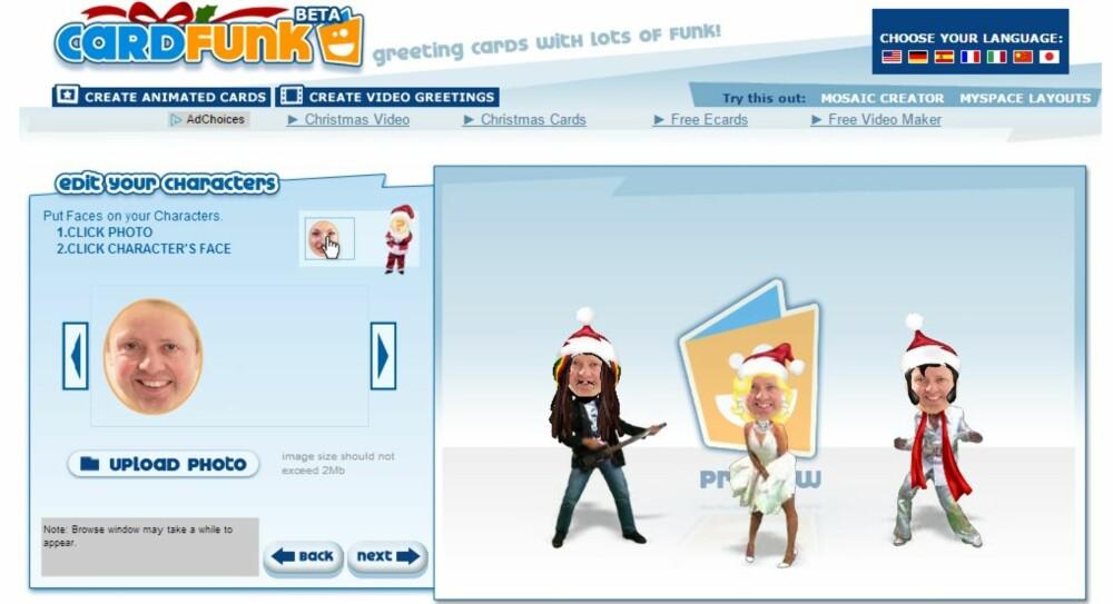 JULEVIDEO: Det finnes mange tjenester på nettet som lar deg lage morsomme julekort med video.