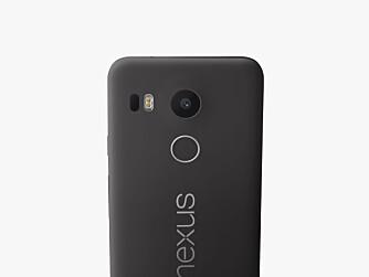 KAMERAET: LG Nexus 5X har et kamera med en oppløsning på 12,3 megapiksler og tar ganske bra bilder. bare synd at kamera-appen er litt begrenset. Under linsen ser du fingeravtrykksleseren.