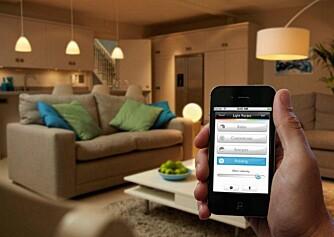 SMART: Hue er et system der du kan automatisere belysningen, styre lysene fra en app eller fra trådløse brytere.