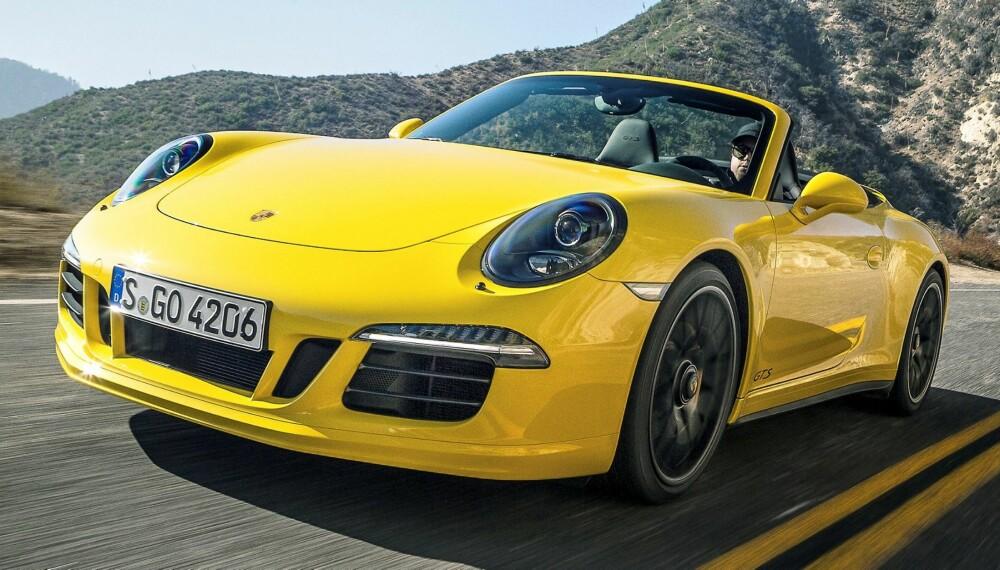 PORSCHE: GTS er en helt fantastisk bil. Selv som kabriolet. FOTO: Porsche