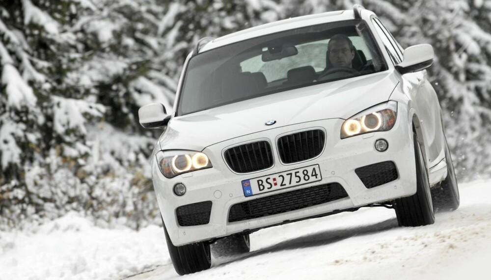 KJØREMASKIN: BMW X1 er den mest kjørevillige og personbilaktige modellen som samtidig har SUV-aktig bakkeklaring.