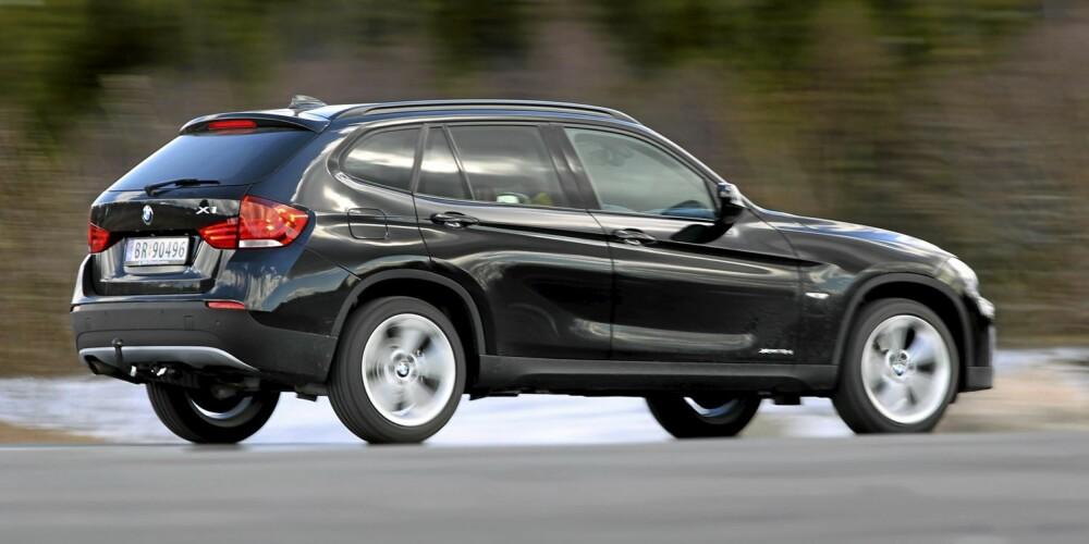 IMPONERER: X1 kjører som en sportslig bil, ikke som en SUV.