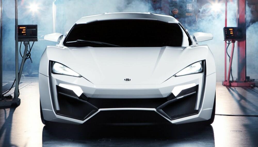 VIL DEN LYKKES: Lykan Hypersport ¿ første bil fra Midtøsten-baserte W Motors. FOTO: Produsent