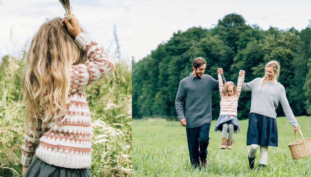 STRIKKEGENSER: Strikk en deilig ullgenser til barn, som både er varm og lekker.