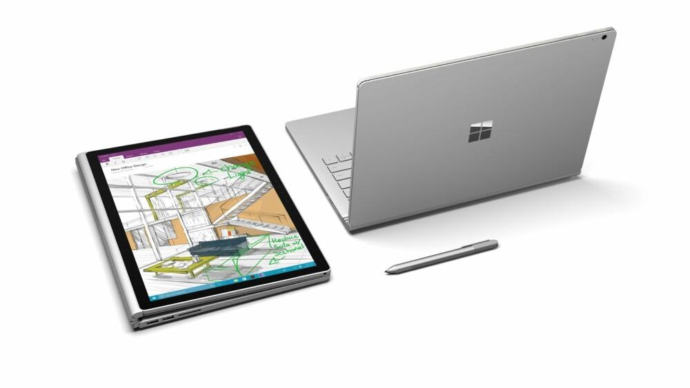 BRETT: Skjermen på Surface Book kan brettes 180 grader rundt på samme måte som du gjør på et magasin.