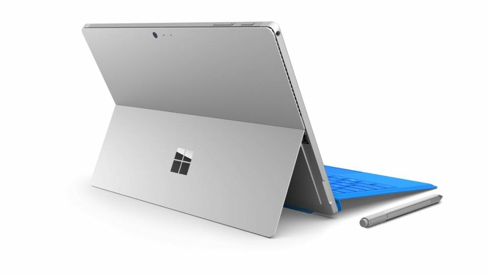 STØTTE: Surface Pro 4 har beholdt den velkjente støtten fra tidligere modeller.
