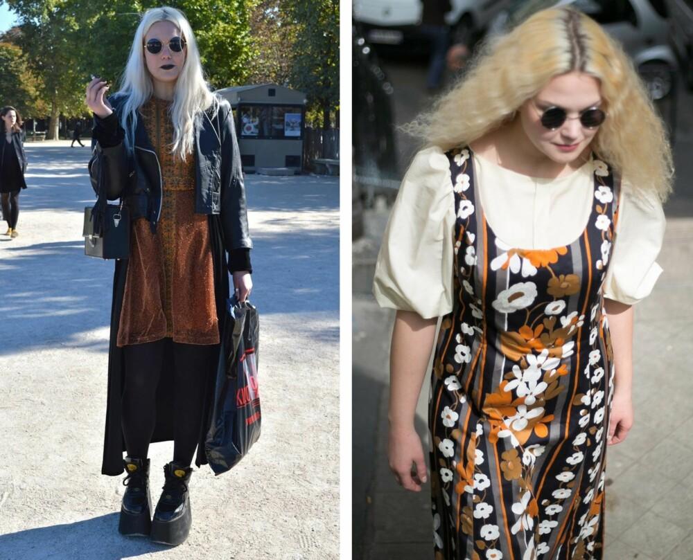 b72e2695 KROGSTAD I VINTAGEKUPP: Bilde til venstre: Vintagesamler Christina Krogstad  deltok på Fashion Week i