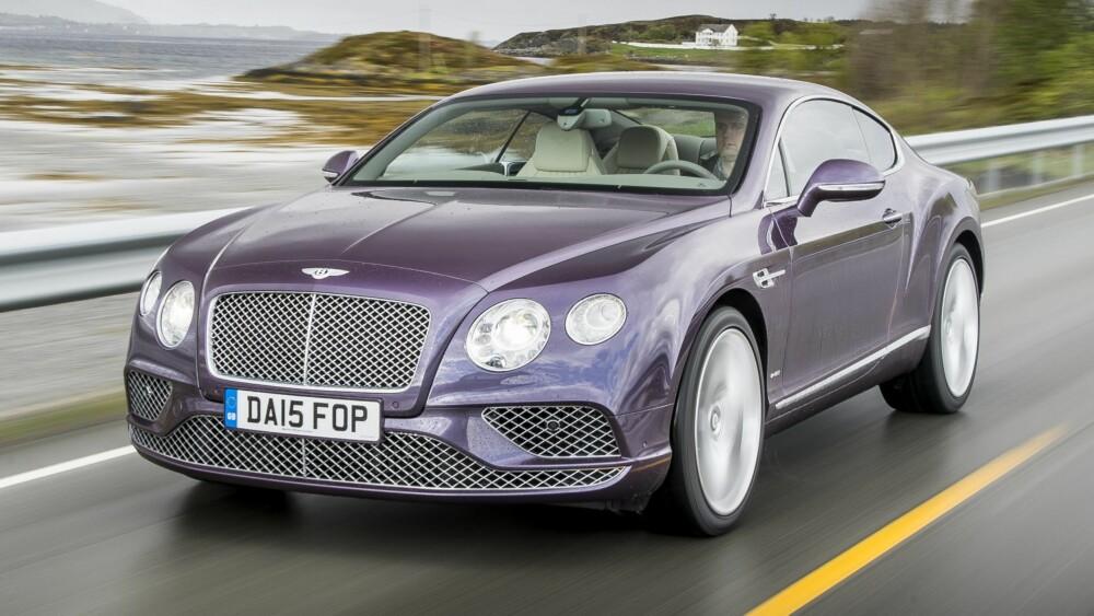 SCENIC ROUTE: Bentley har vært på norgesbesøk og testet Continental GT som har fått blant verdens minste ansiktsløft. ALLE FOTO: Produsent