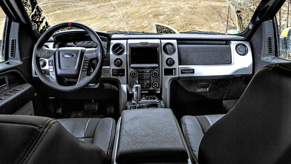 FUNKSJONELT: VelociRaptor har stortsett Ford F-150 kupé: ikke vakker, men funksjonell.